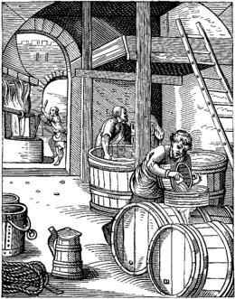 ølbrygging på 1600 tallet J.Amman