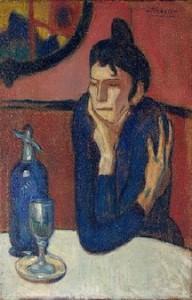 Absintdrikkeren (1901), Pablo Picasso, Statens museum for vestlig kunst i Moskva.