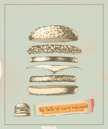 Hamburger, tegning