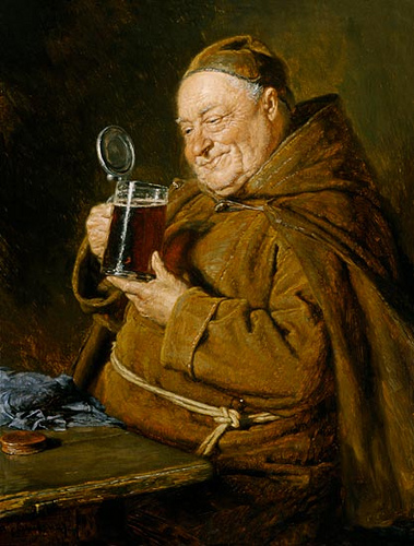 munk med drikke